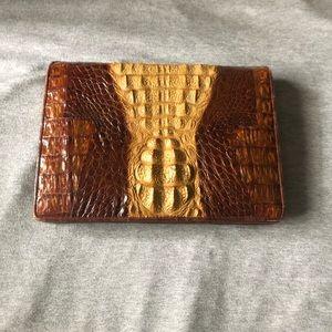Handbags - Stunning real vintage alligator clutch